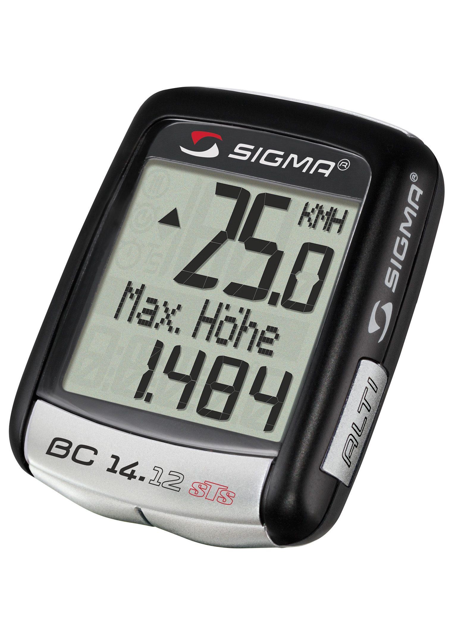 Sigma Sport Fahrradcomputer, kabellos, schwarz, »Topline 2012 BC 14.12 STS ALTI«