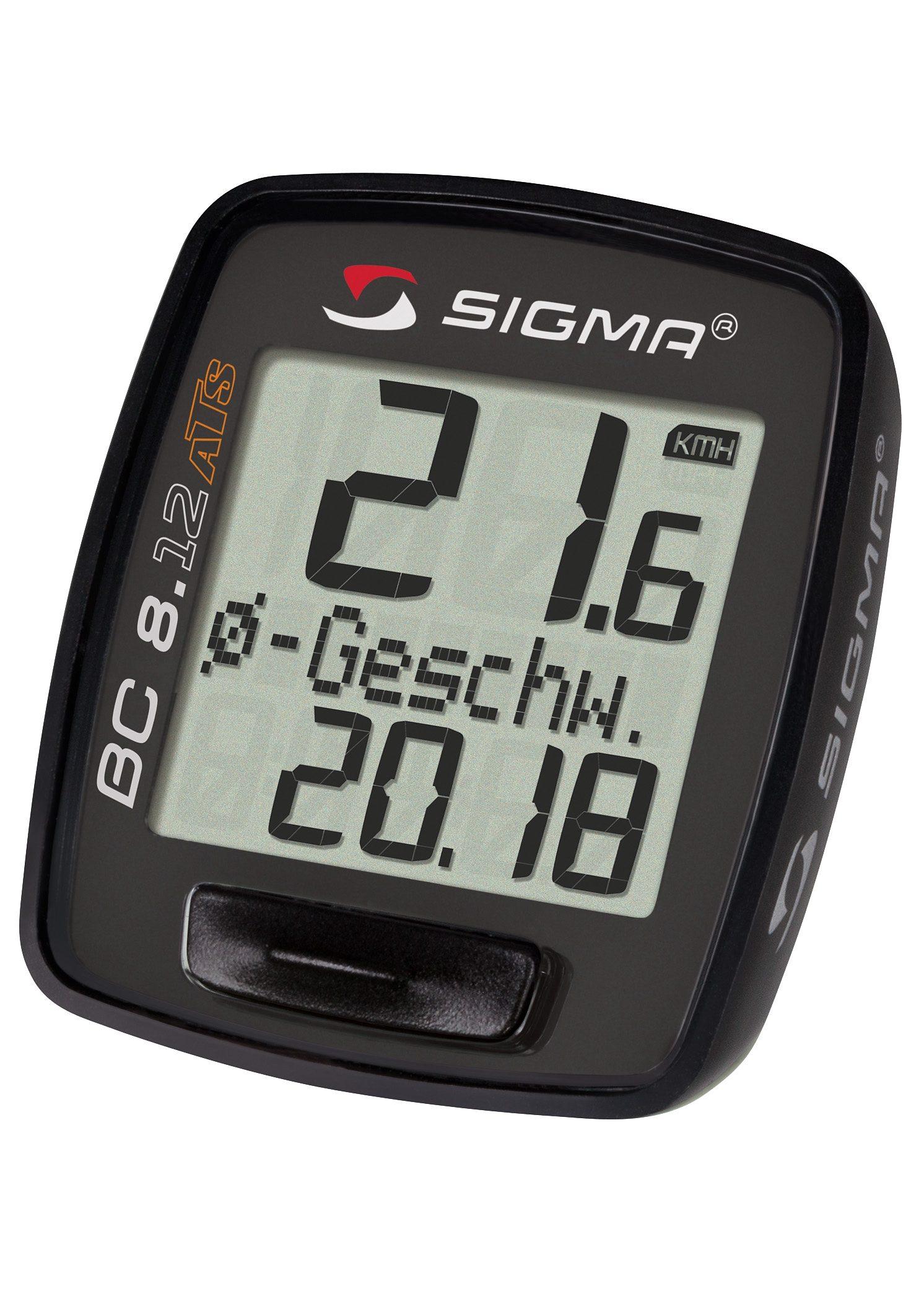 Sigma Sport Fahrradcomputer, kabellos, schwarz, »Topline 2012 BC 8.12 ATS«