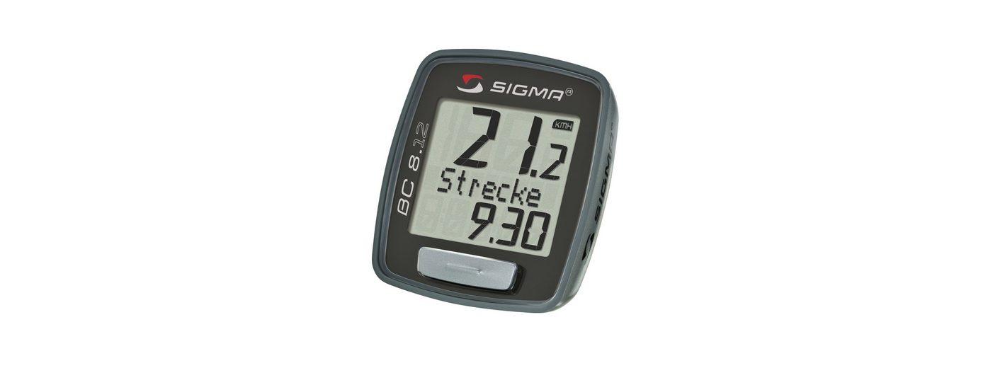 Sigma Sport Fahrradcomputer, kabelgebunden, schwarz, »Topline 2012 BC 8.12«