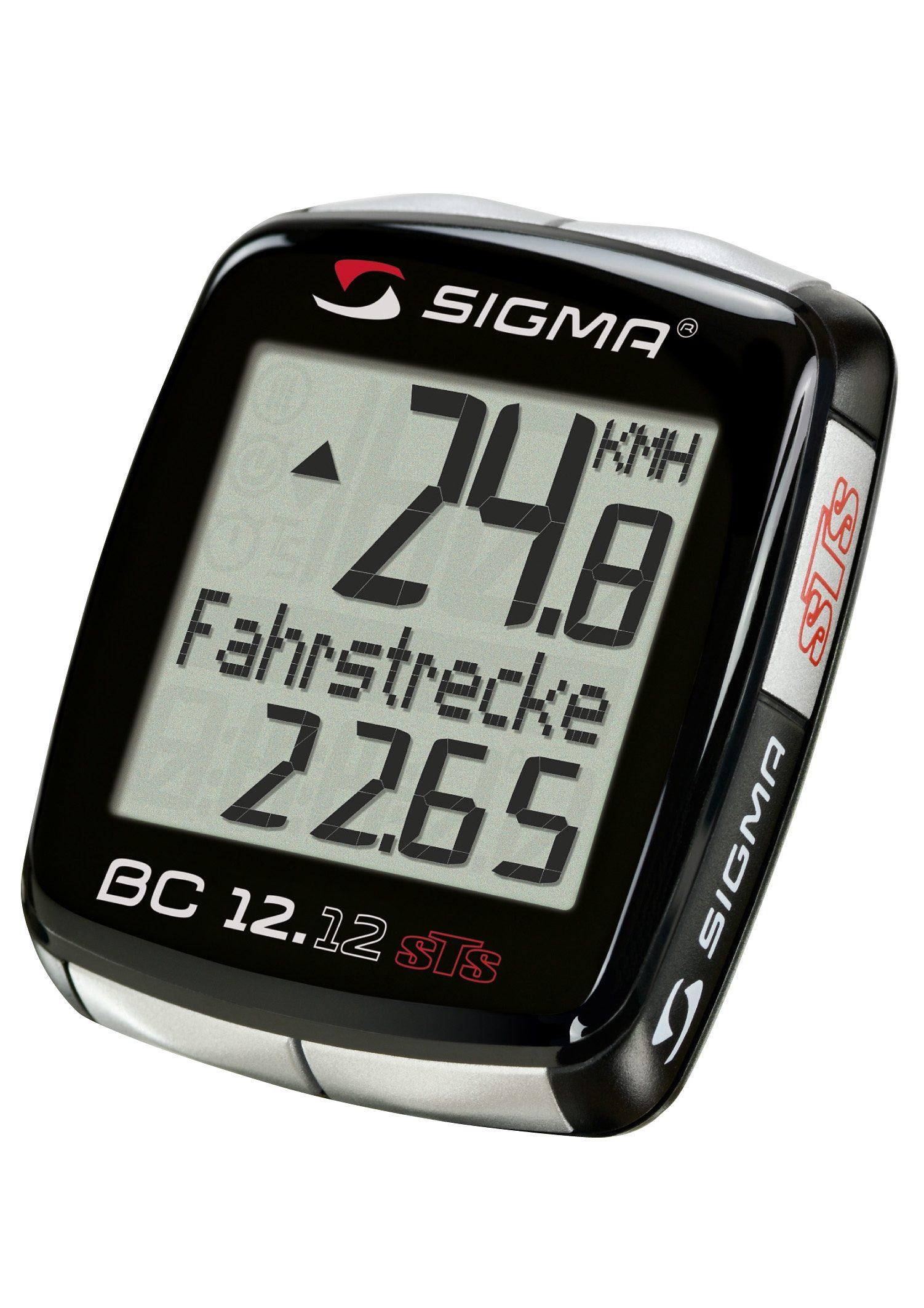 Sigma Sport Fahrradcomputer, kabellos, schwarz, »Topline 2012 BC 12.12 STS«