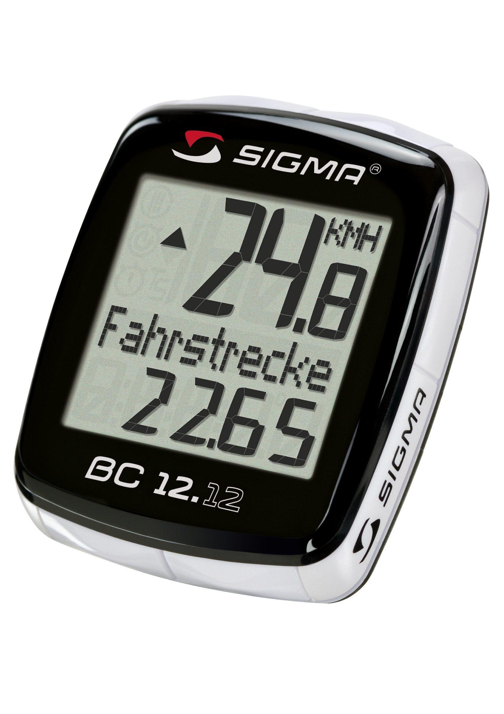 Sigma Sport Fahrradcomputer, kabelgebunden, schwarz, »Topline 2012 BC 12.12«