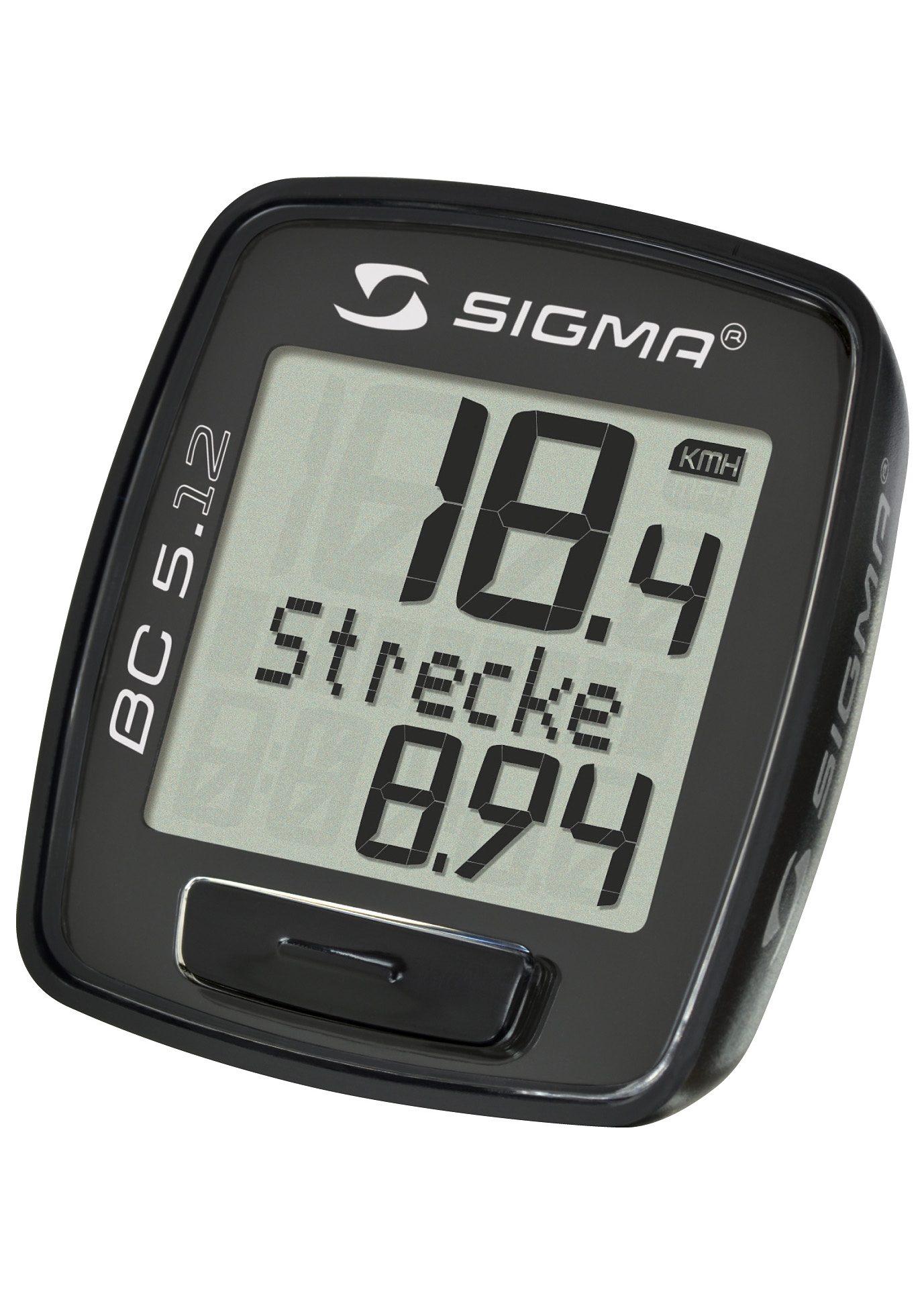 Sigma Sport Fahrradcomputer, kabelgebunden, schwarz, »Topline 2012 BC 5.12«