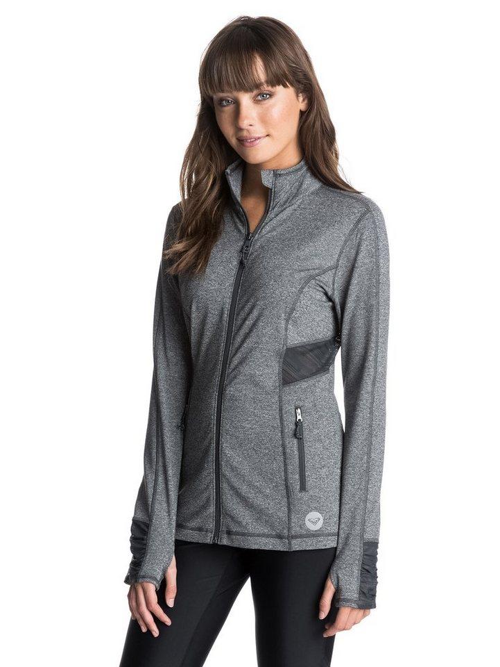 Roxy Langärmelige Zip-Jacke »Work It Jacket « in True black heather