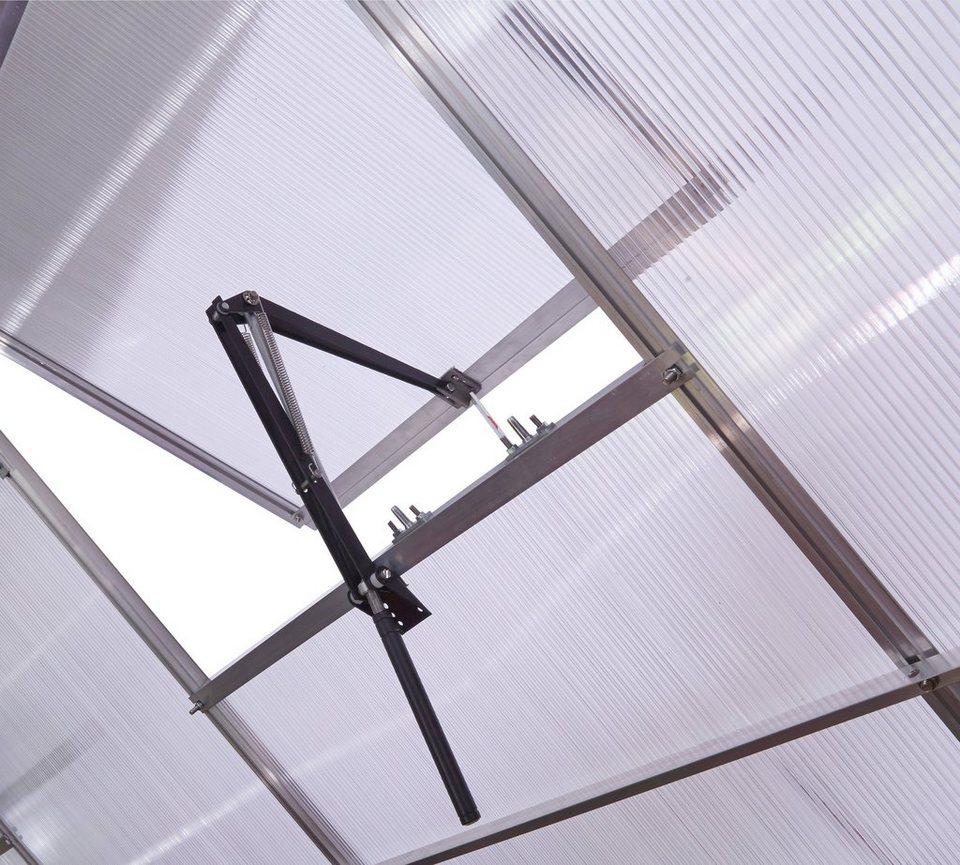 Automatischer Fensteröffner in grau