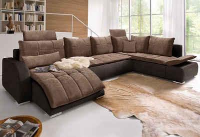 Wohnlandschaft verstellbare rückenlehne  Wohnlandschaft online kaufen » Sofa in U-Form | OTTO