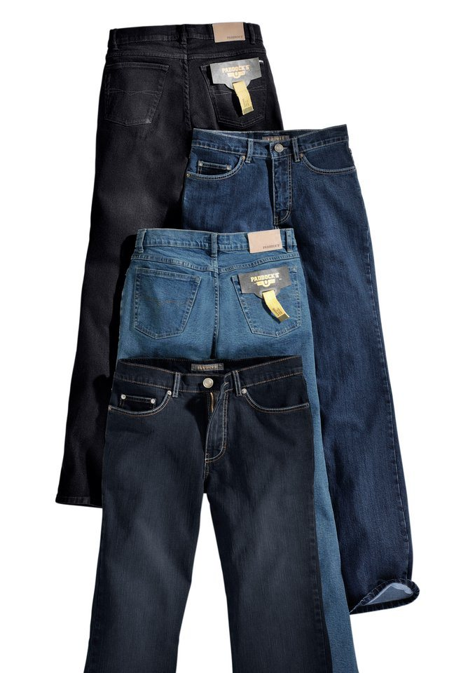 Paddock´s Jeans mit vielen Details in blue-bleached