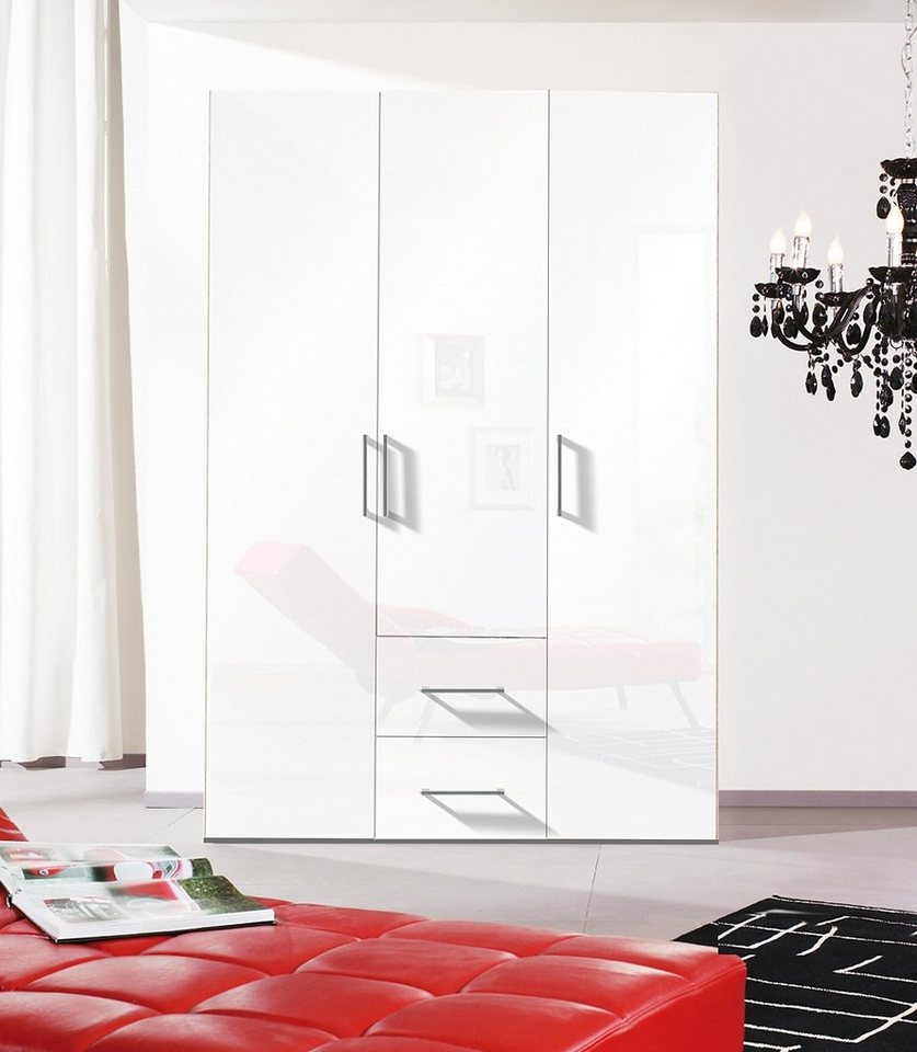 Express Solutions Kleiderschrank in weiß/Hochglanz weiß