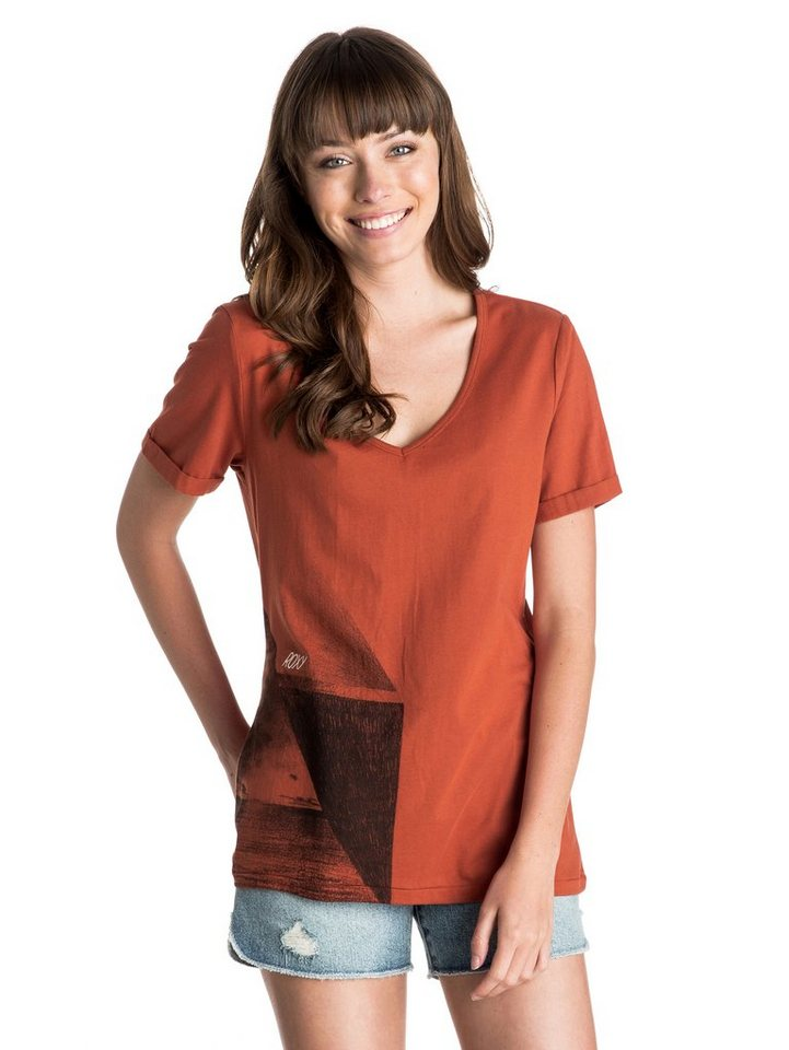 Roxy T-Shirt »V Neck« in Picante