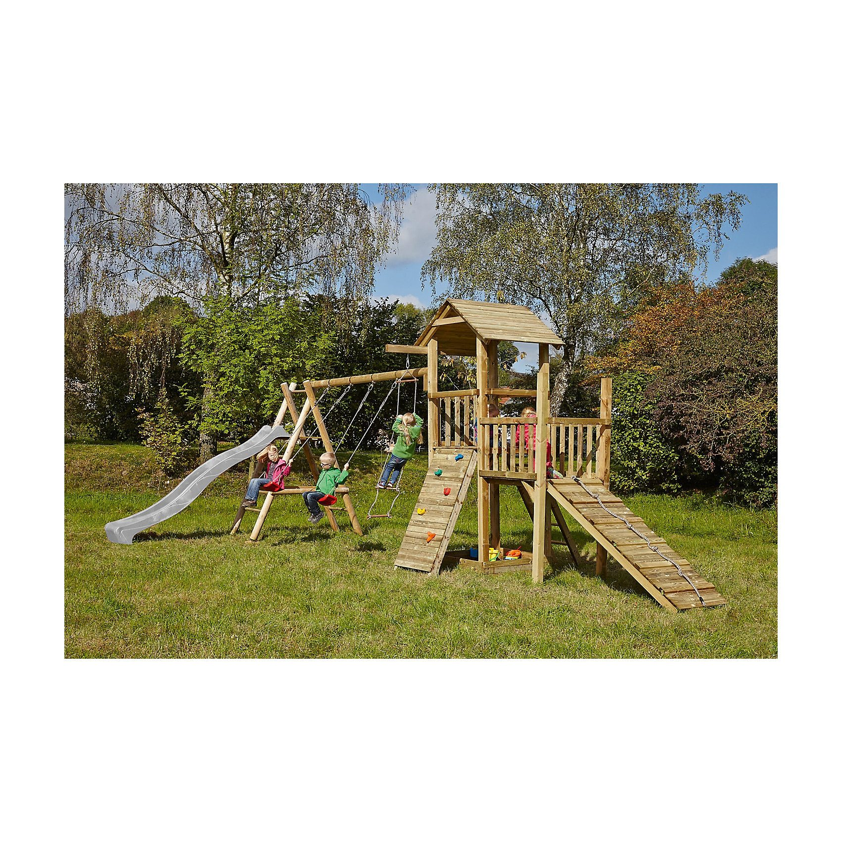 Spielturm mit Holzdach - PIRATE & PRINCESS 2 - ohne Rutsche