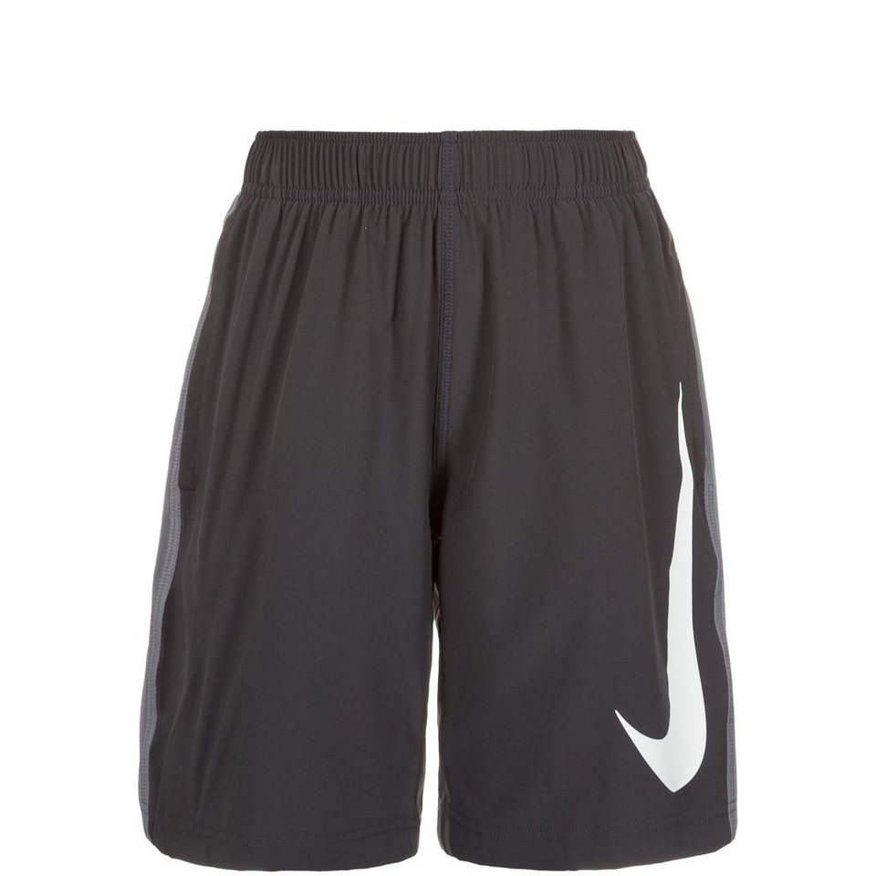 NIKE Fly Woven Trainingsshort Kinder in anthrazit / grau