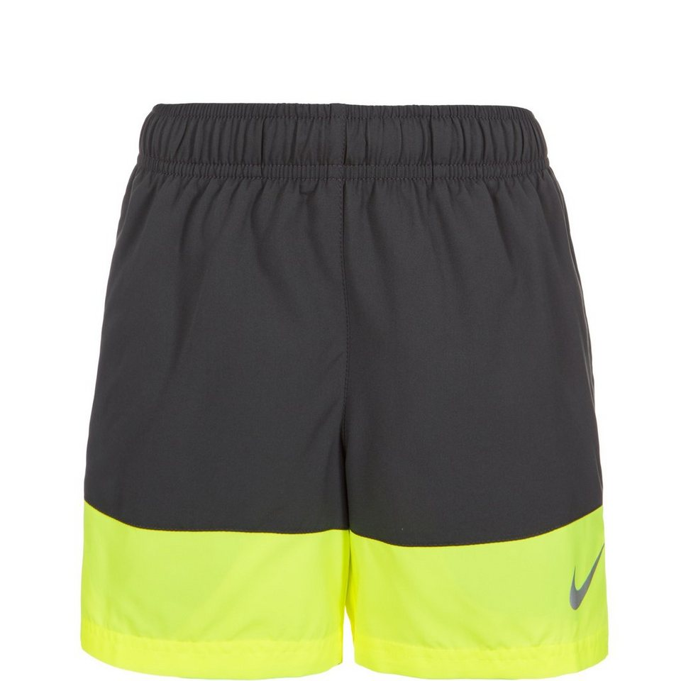 NIKE Distance Laufshort Kinder in anthrazit / lime