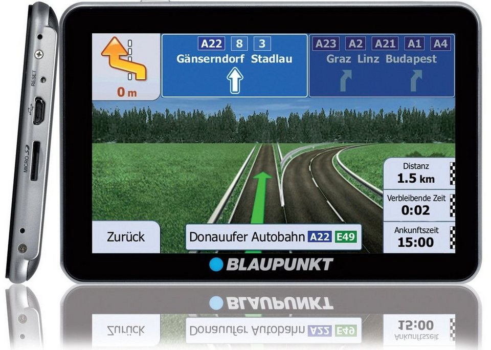 Blaupunkt Navigationsgerät »Travelpilot 73 CE LMU« in Schwarz-Silber