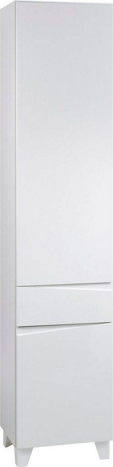 Hochschrank »Sharpcut« in weiß-weiß