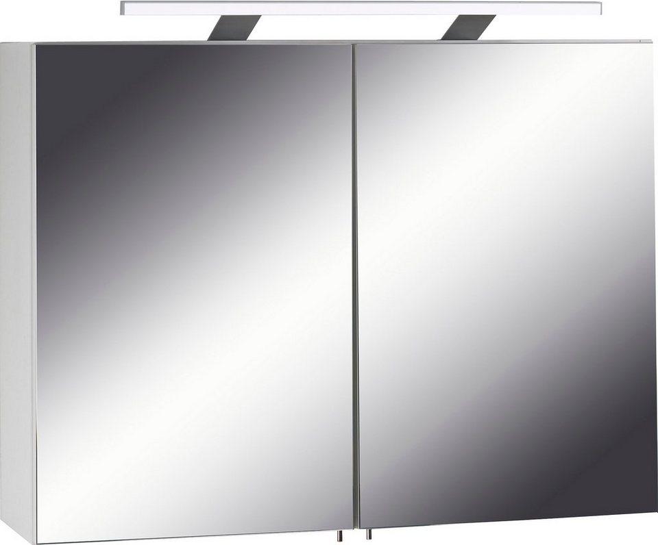 Homexperts Spiegelschrank »Sleek« mit LED-Beleuchtung, Pflegeleichte  Oberfläche online kaufen | OTTO