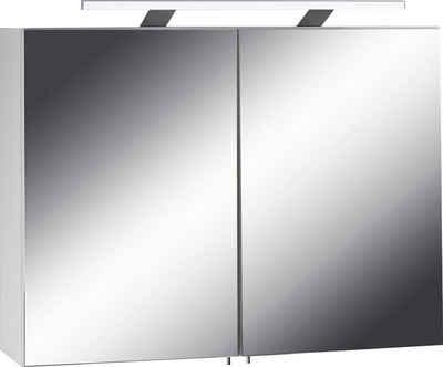 Fackelmann led aufsatzleuchte chrom 10 x 56 x 2 cm smash - Spiegelschrank 12 cm tief ...