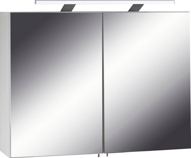 spiegelschrank sleek mit led beleuchtung kaufen otto. Black Bedroom Furniture Sets. Home Design Ideas