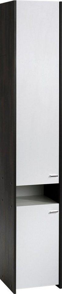 Hochschrank »Bergamo« in anthrazit/weiß