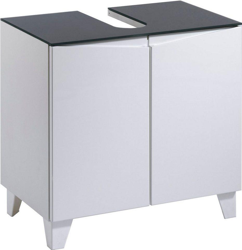 Waschbeckenunterschrank »Sharpcut« in weiß-weiß