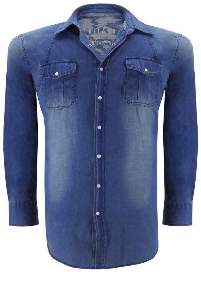 kitaro Jeanshemd in Denim Blue