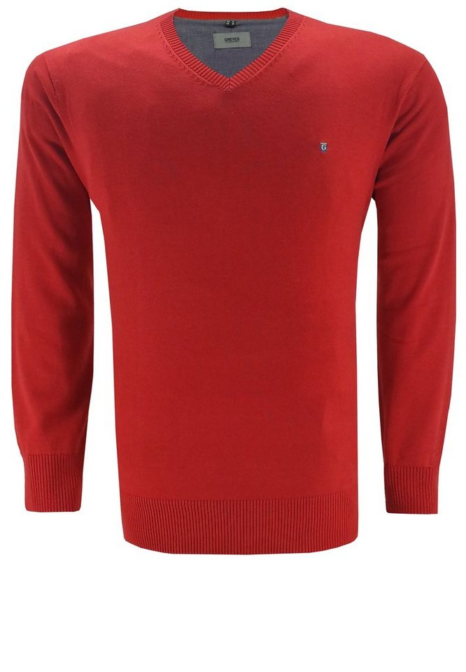 greyes Pullover in Rot