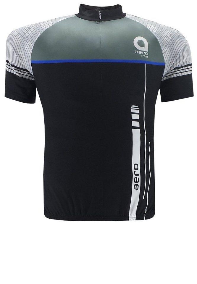 aero Sportswear Fahrradtrikot in Schwarz