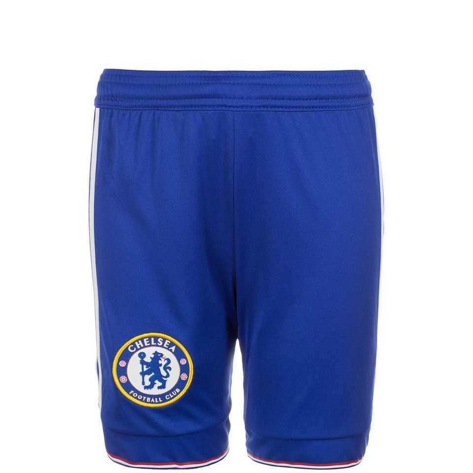 adidas Performance FC Chelsea Short Home 2015/2016 Kinder in blau / weiß