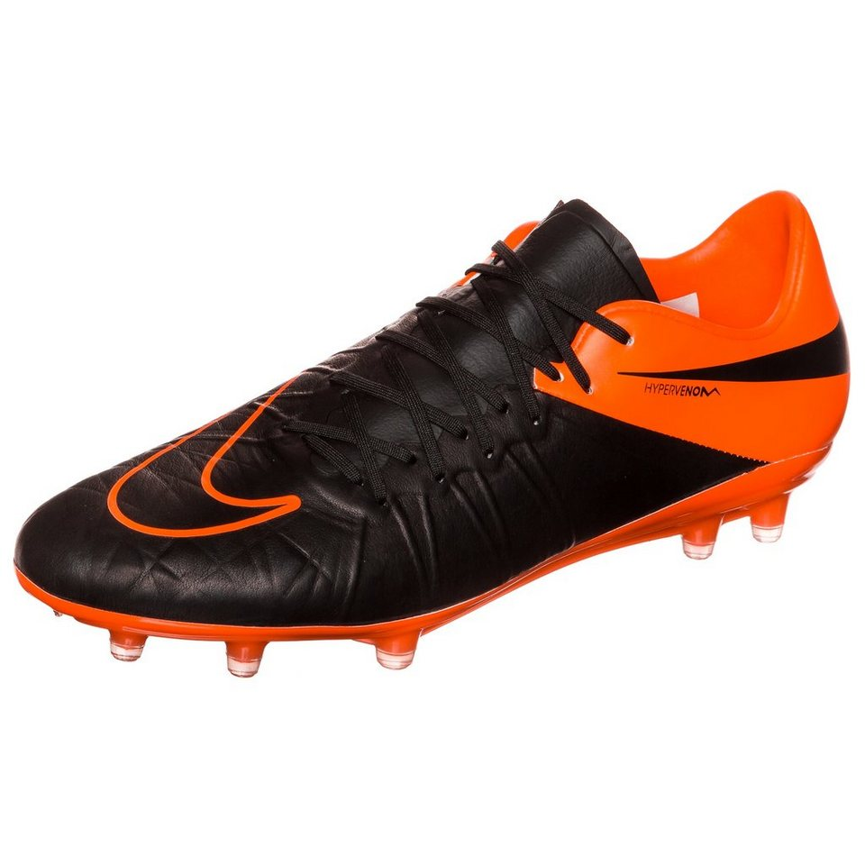 NIKE Hypervenom Phinish Leather FG Fußballschuh Herren in schwarz / orange