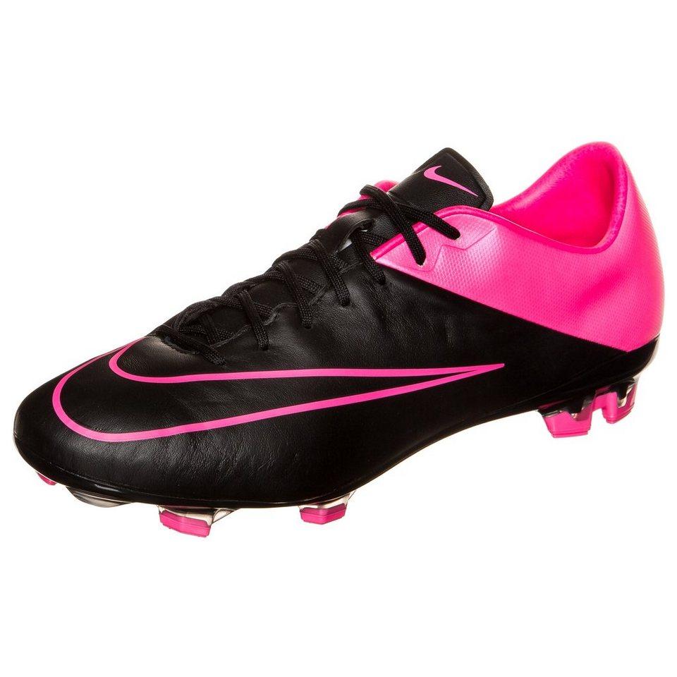 NIKE Mercurial Veloce II Leather FG Fußballschuh Herren in schwarz / pink