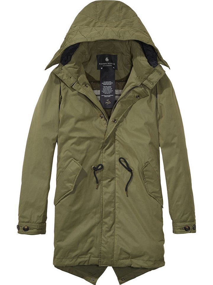 Maison Scotch Mantel »Technical parka with warm wool blanket l« in grün