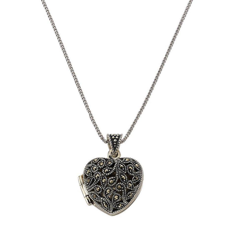 Zeeme Anhänger mit Kette »925/- Sterling Silber Markasit« in schwarz