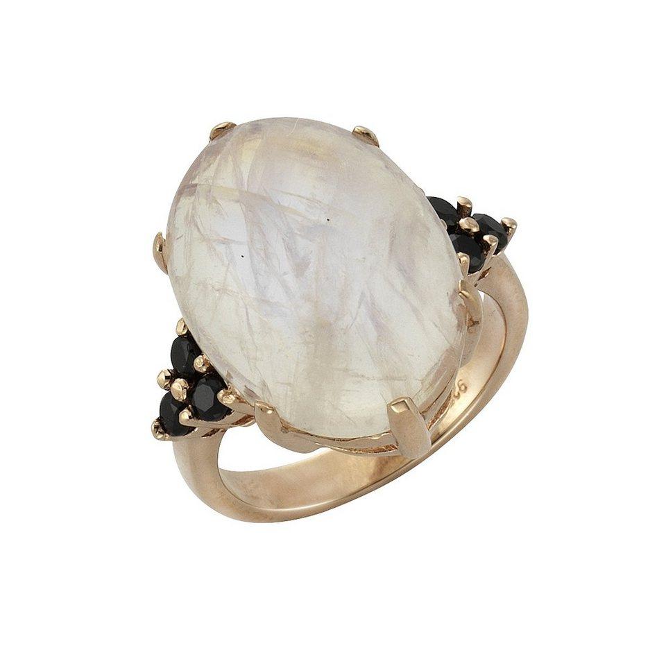 Zeeme Ring »925/- Sterling Silber Mondstein und Spinell« in rose