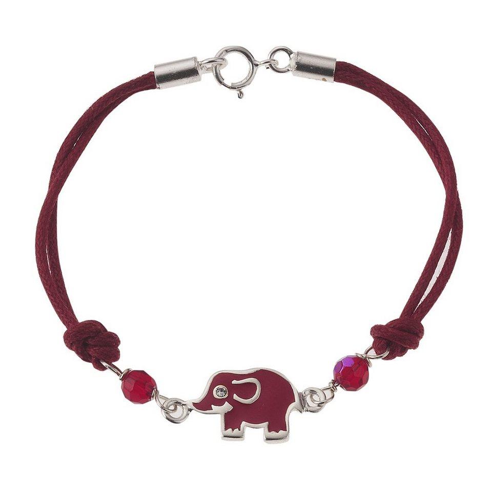 Zeeme Armband »Kinderarmband 925/- Silber« in rot