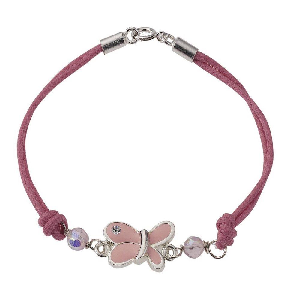 Zeeme Armband »Kinderarmband Textil Schmetterling« in rosa