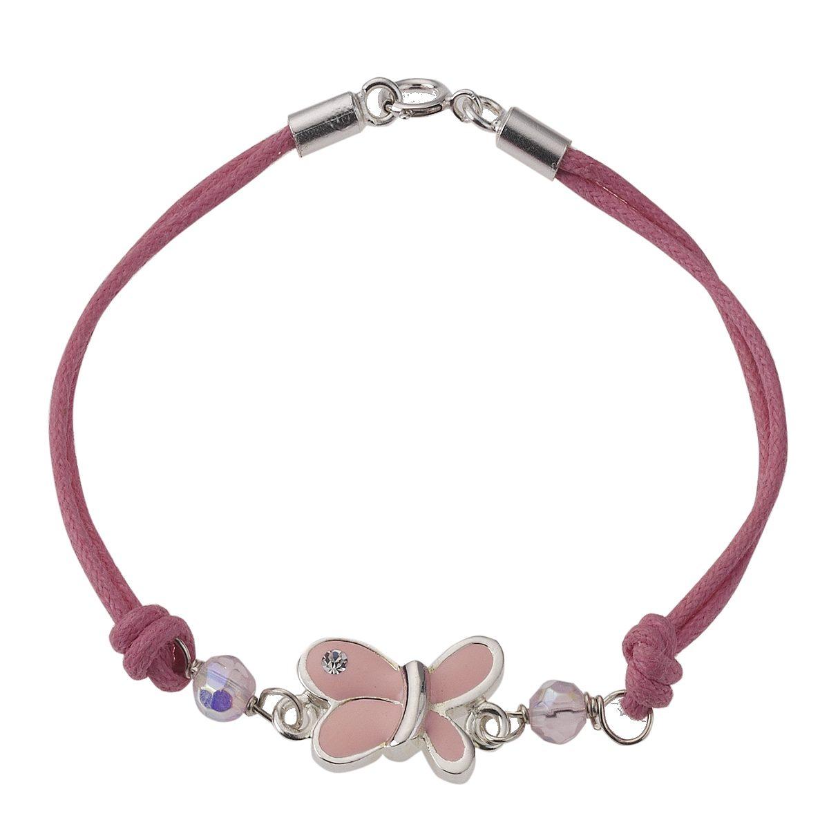 Zeeme Armband »925/- Sterling Silber Textil Schmetterling«