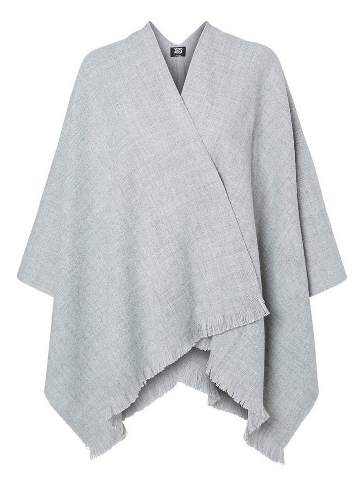 Vero Moda Schlicht Poncho in Light Grey Melange