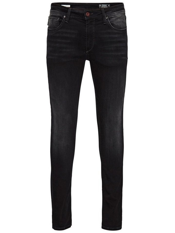 Jack & Jones Liam Original JJ 911 Super Stretch Skinny Fit Jeans in Blue Denim