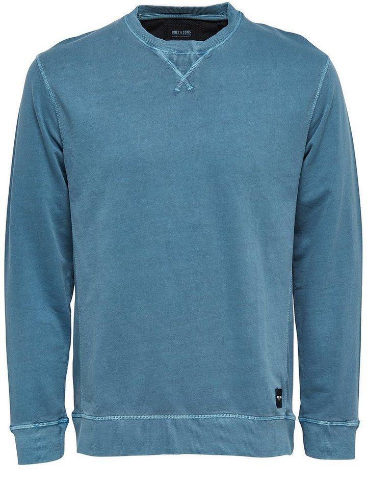 ONLY & SONS Einfarbiges Sweatshirt in Dress Blues