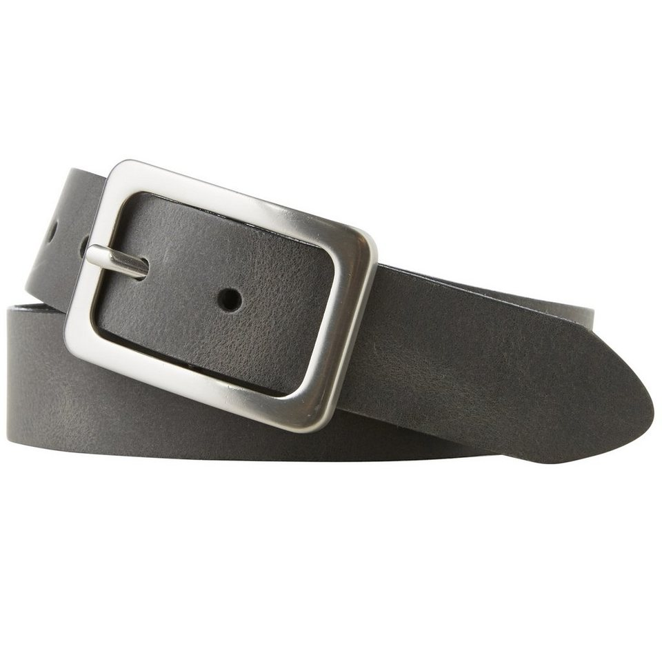 TOM TAILOR Gürtel »classic leather belt« in anthra