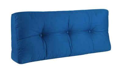BioKinder - Das gesunde Kinderzimmer Sitzkissen, Rückenkissen 100x40 cm Blau
