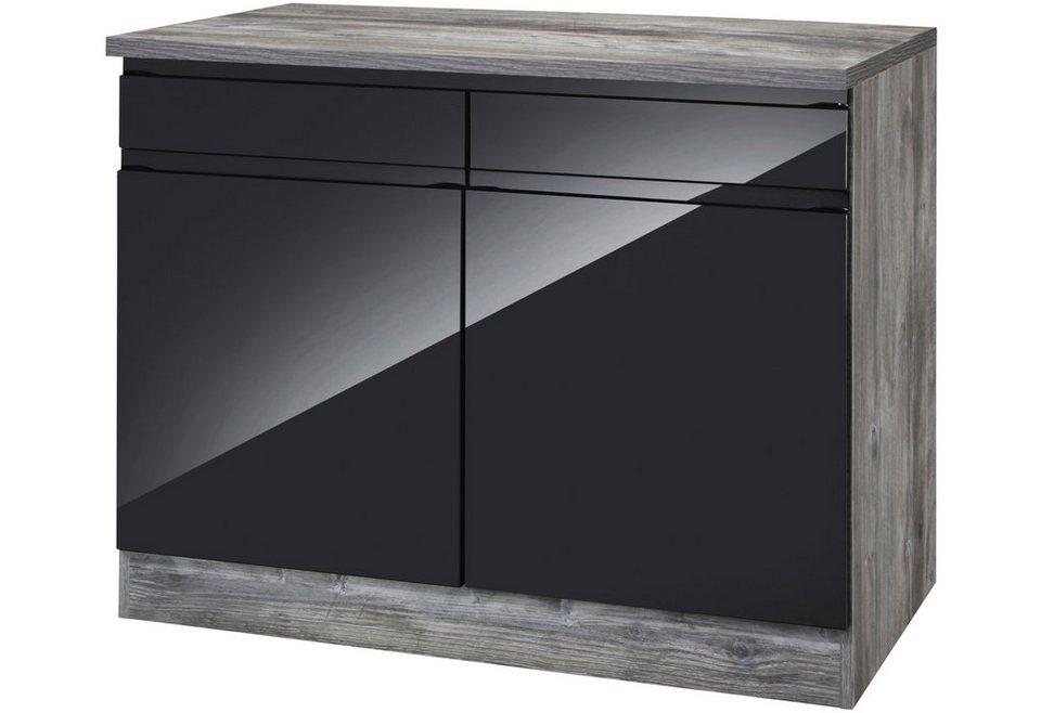 Küchen unterschrank schwarz  HELD MÖBEL Küchenunterschrank »Virginia, Breite 100 cm« online ...