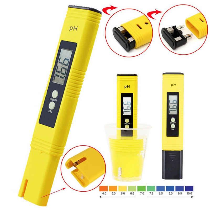 Vodool Feuchtigkeitsmesser »pH Messgerät, Wasserqualität Tester mit LCD Anzeige, PH Wert Messgerät Wasserqualität Tester für Trinkwasser, Schwimmbad, Aquarium, Pools und Labor«