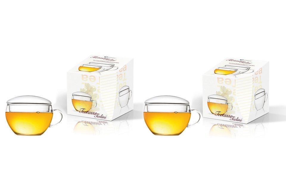 Creano Glas-Teetassen (2er Set) in transparent