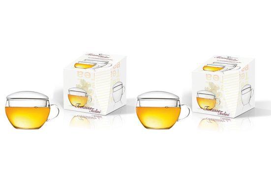 Creano Tasse »Teelini« (2-tlg), Mit integriertem Glasdeckel