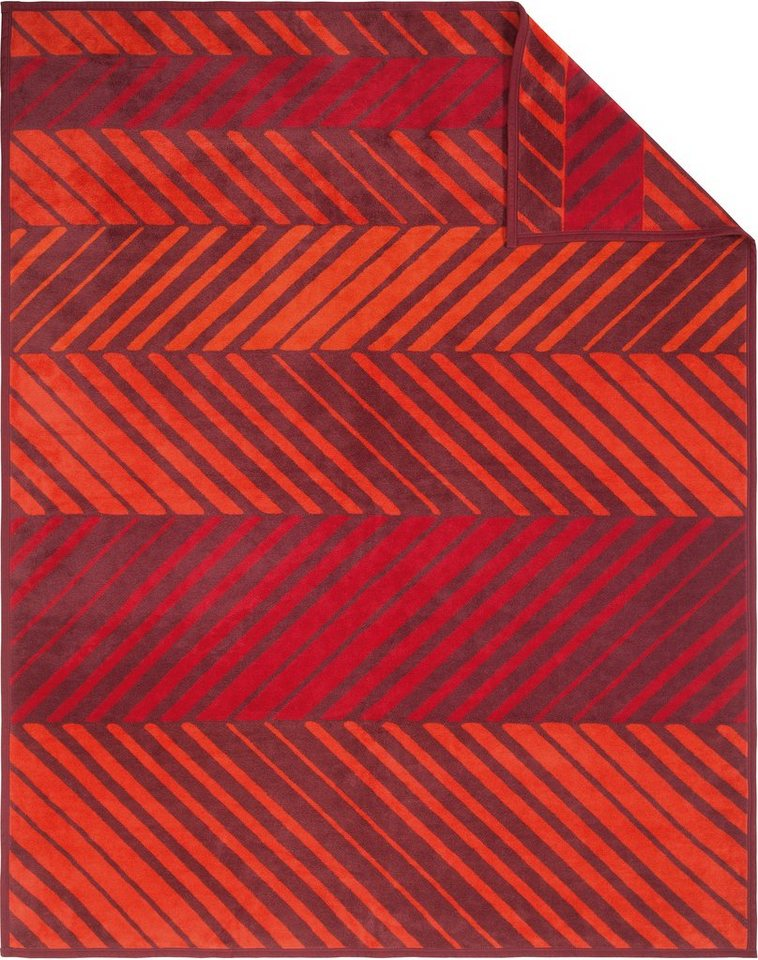 Wohndecke, Ibena, »Diago«, mit diagonalen Linien in rot