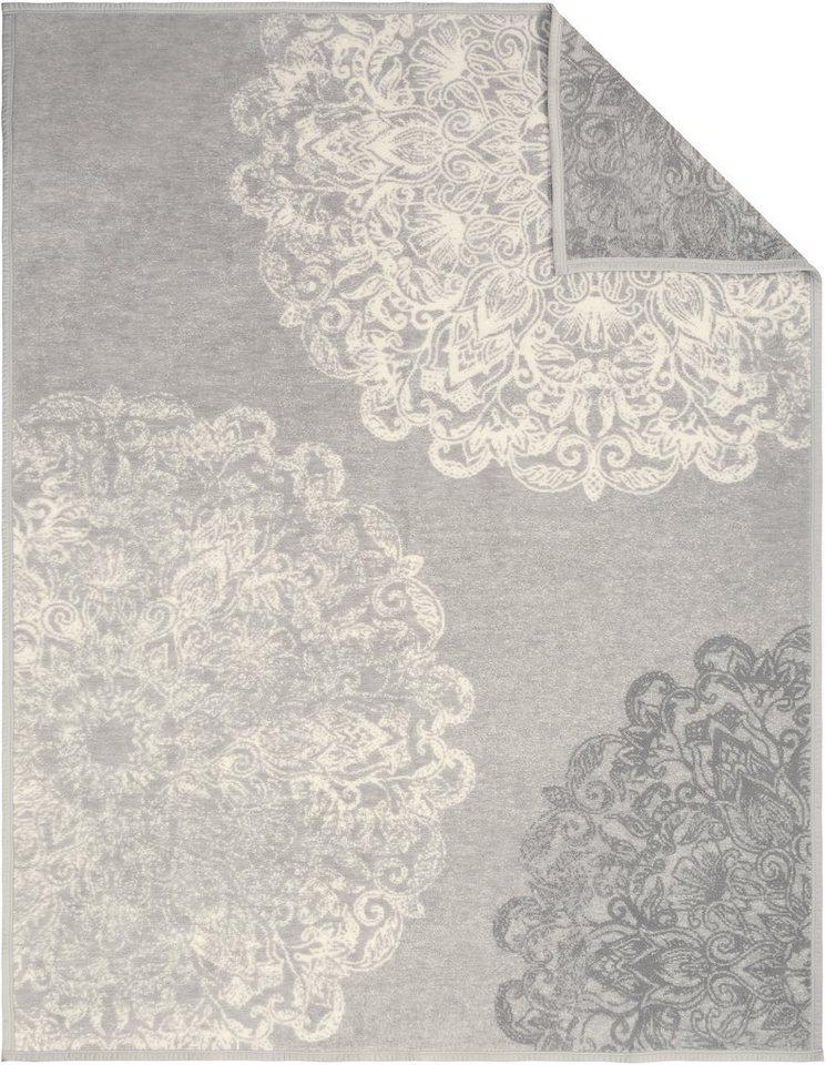 Wohndecke, Ibena, »Judy«, mit Ornamenten in grau