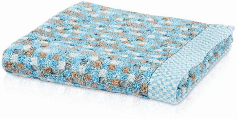 Handtuch, Möve, »Mosaic«, mit Mosaic-Design in aqua