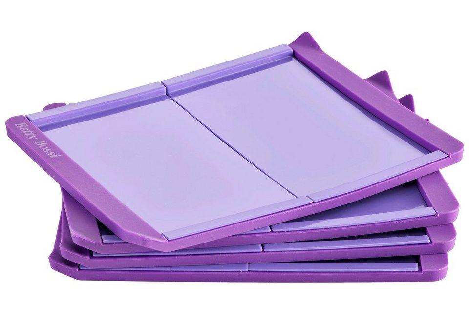 Betty Bossi Mini-Biskuitrollenform (4er Set) in violett