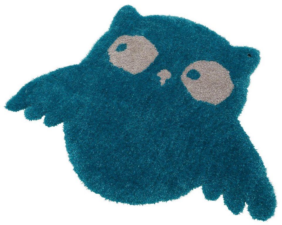 Kinder-Teppich, Tom Tailor, »Soft Eule«, Hochflor, Höhe 30 mm, handgearbeitet in turkis
