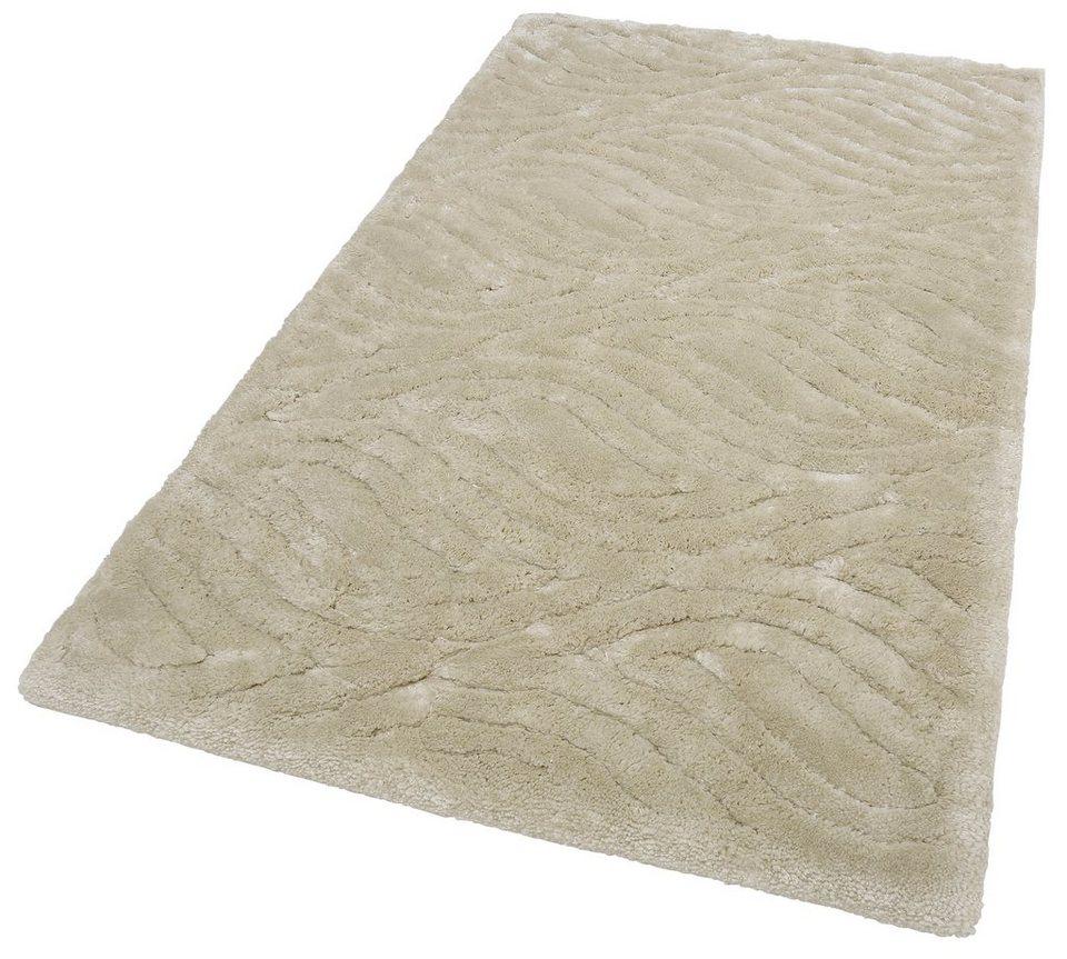 Hochflor-Teppich, »Mountain Shag«, Höhe 50mm, gewebt in weiß