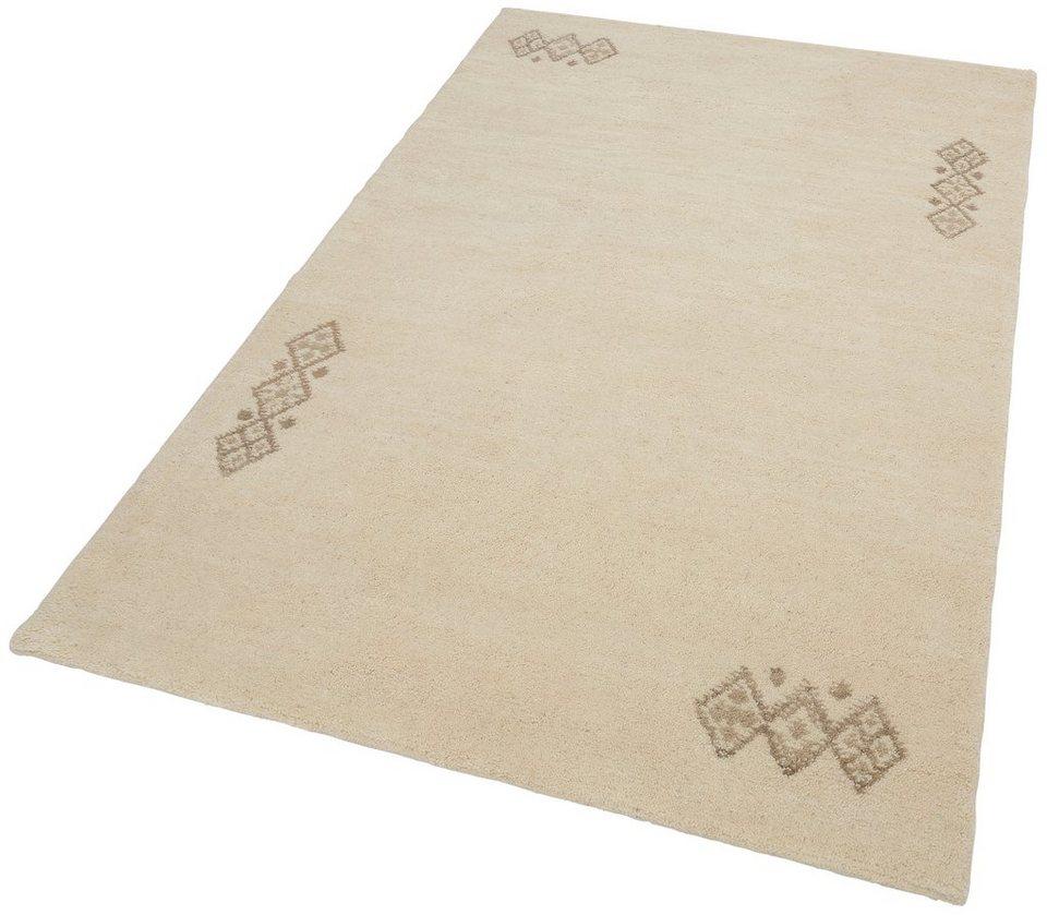 Orient-Teppich,Theko,»Royal Dou 2«, 4,6 kg/m², 22 500 Knoten/m², echt Berber, reine Schurwolle in wollweiß
